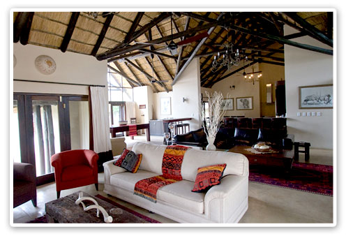 Main Lodge Lounge Area Buffalo Thorn Lodge Malaria Free Big Five Pilanesberg Game Reserve Accommodation Booking