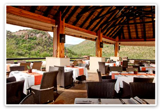 Pilanesberg Game Reserve Accommodation Booking Dining Deck Kwa Maritane Bush Lodge Luxury Accommodation