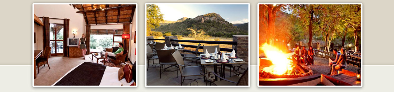 Kwa Maritane Bush Lodge Pilanesberg Game Reserve Accommodation Booking Luxury Accommodation Dining Deck Boma Fire